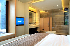China's luxury hotel rooms,. China hotel rooms,The hotel environment Royalty Free Stock Photos