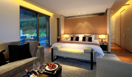 China's luxury hotel rooms,. China hotel rooms,The hotel environment Stock Photography