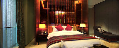 China's luxury hotel rooms,. China hotel rooms,The hotel environment Royalty Free Stock Image