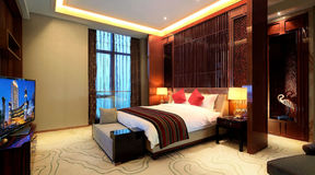 China's luxury hotel rooms,. China hotel rooms,The hotel environment Stock Image