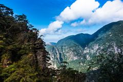 China`s mountains and rivers are so beautiful stock image
