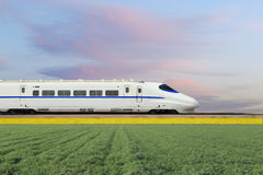 China's new high-speed train. High-speed train in driving royalty free stock photos