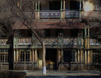 China`s old villa of Harbin sun island. Of Harbin sun island in China, the old villa is wooden old house, full of years of vicissitudes of life.Now, here is the Royalty Free Stock Image