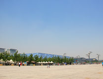 China's Olympic sports center. Royalty Free Stock Images