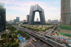 China-` s Peking Stadt, ein berühmtes Marksteingebäude, China CCTV cm stockfotografie