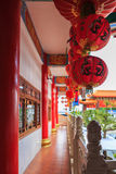 China's red lamp. Chinese red lanterns are hung in a holy place royalty free stock photo