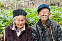 China's rural elderly couples Royalty Free Stock Photo