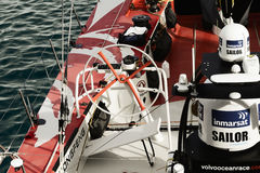 China`s only sailing boat `Volvo Ocean 65 Dongfeng` in Cape Town Stock Photography