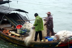 China's sea pullution. A photo shows the fishing production decrease in Xiamen, China, which was caused by the industrial pollution stock photography
