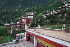 China's sichuan province Dan yuba, jiaju Tibetan village, beautiful natural scenery. On August 5, 2015 in sichuan ganzi prefectures Dan yuba jiaju Tibetan Royalty Free Stock Images