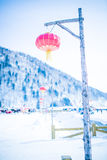 China s snow town and lanterns Royalty Free Stock Images
