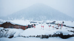 China's snow town Royalty Free Stock Photography