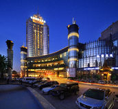 China's star hotel external landscape. Resort hotel,accommodation,tourism, business,building Stock Image