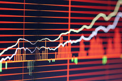 China's stock charts Stock Images