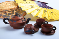 China's tea utensils Purple sand pot.  Royalty Free Stock Photos