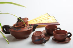 China's tea utensils Purple sand pot Stock Photos