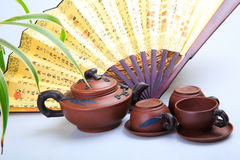 China's tea utensils Purple sand pot Royalty Free Stock Images