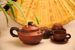 China's tea utensils Purple sand pot Stock Photo