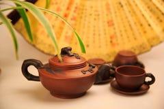 China's tea utensils Purple sand pot. . Stock Photo