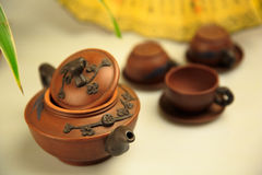 China's tea utensils Purple sand pot Royalty Free Stock Photo