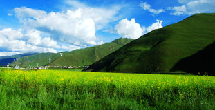 China`s Tibet, blue, sky, white, clouds stock photography
