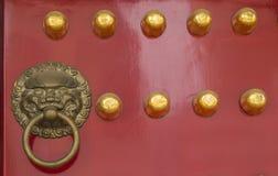 China's traditional wooden door knocker Royalty Free Stock Photo