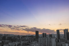 China's urbanization. With China's urbanization, China's more and more tall buildings in a city in the construction, but the life of people and, therefore, is Royalty Free Stock Photography
