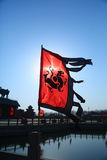 China's warring states flag stock images