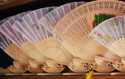 China's wooden fan Stock Image