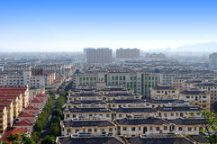 China's Zhejiang City Panorama. China Zhejiang Taizhou City Panorama Stock Photo