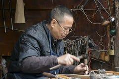 China `s Zhejiang Songyang Ming and Qing streets of craftsmen Royalty Free Stock Images
