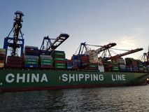 China-Schiffslinie lizenzfreie stockfotos