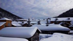 China-Schnee-Stadt Stockfotos