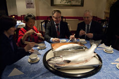 China Schotland Salmon Export Deal 2011 royalty-vrije stock foto
