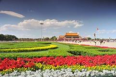 China se está preparando para el 90.o en Tiananmen Imagen de archivo libre de regalías