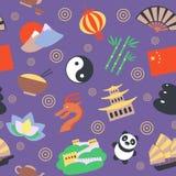 China seamless pattern Royalty Free Stock Photography
