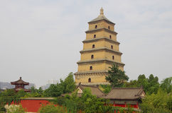 China shaanxi xi 'an wild goose pagoda, music fountain Stock Photography