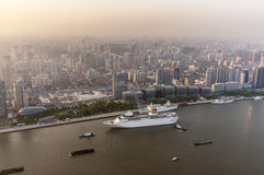 China, Shangai Visión desde la torre oriental de la perla imágenes de archivo libres de regalías
