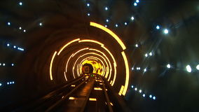 China, Shanghai, The Bund, Bund sightseeing tunnel, slow shutter speed Stock Photo