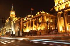 China Shanghai Bund Night View Royalty Free Stock Photo