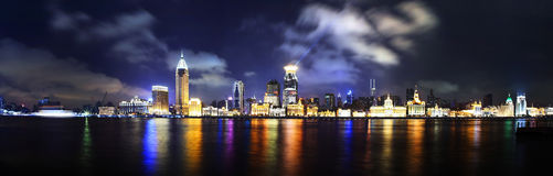 China shanghai bund panorama Royalty Free Stock Photo