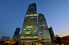 China Shanghai business buildings in night Royalty Free Stock Image
