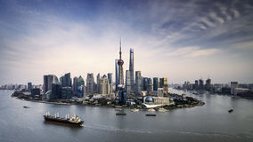 China Shanghai Lujiazui city landscape architecture Royalty Free Stock Images