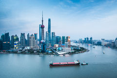 China Shanghai Lujiazui cityscape Royalty Free Stock Photo