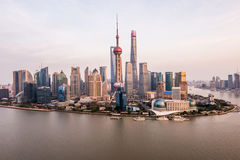 China Shanghai Lujiazui cityscape Stock Photography
