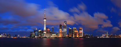 China shanghai panorama Royalty Free Stock Photos