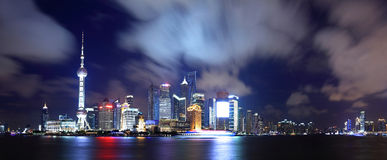 China shanghai panorama Royalty Free Stock Image