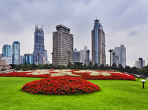 China Shanghai People Square Day Royalty Free Stock Photo