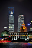 China Shanghai Pu-dong Lujiazui night view Stock Photos
