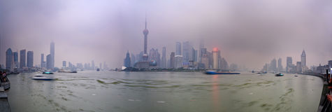 China Shanghai Pudong Set Panorama Royalty Free Stock Photos
